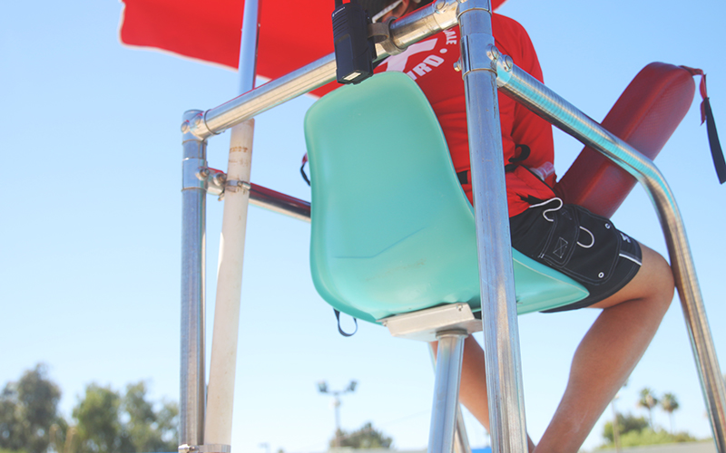 Lifeguards are trained to assist individuals who aren't great swimmers. (Photo by Christopher West/Cronkite News)