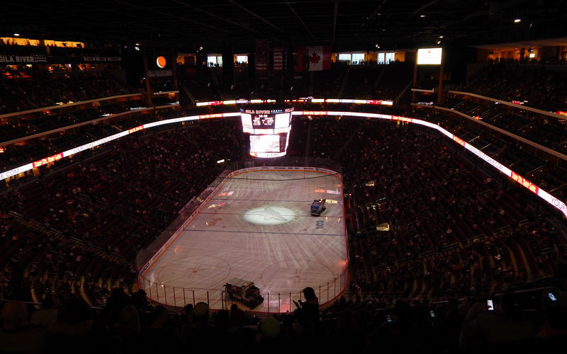 Arizona Coyotes Gila River Arena. (Photo by Erin Johnson/Cronkite News)