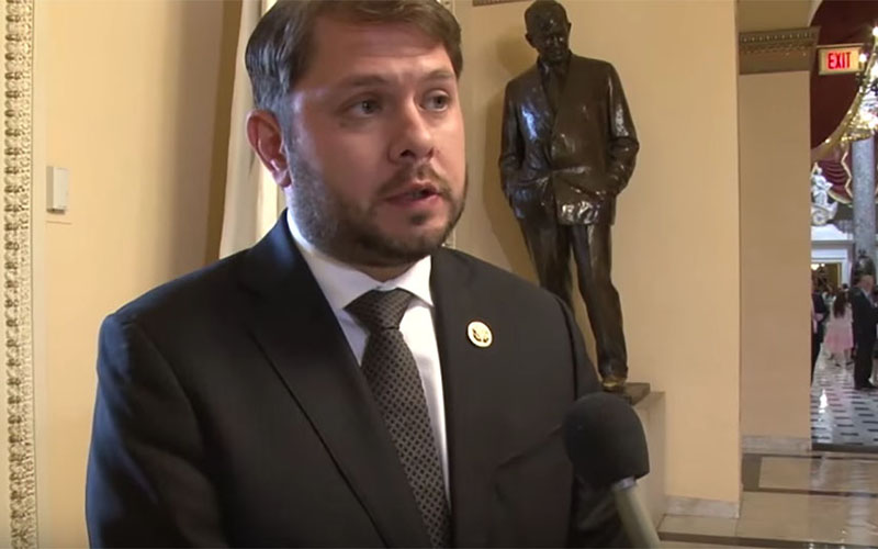 Rep. Ruben Gallego, D-Phoenix, outside the House chamber where Democrats staged a sit-in last week in an effort to force the Republican leadership to bring a gun-control bill up for a vote. (Photo by Keshia Butts/Cronkite News)