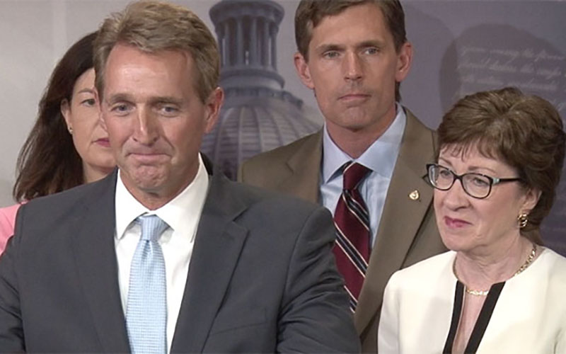 Sen. Jeff Flake, R-Arizona, said that unlike partisan gun measures that were designed to faiil to make political points, the bipartisan 'no fly, no buy' measure is designed to pass.