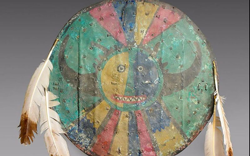 The Acoma shield was set to be sold at auction in Paris, but the sale was halted for an investigation into charges that they artifact may have been stolen from the tribe.