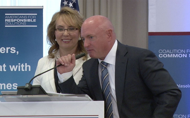 "Mark Kelly, who founded Americans for Responsible Solutions with wife,Gabby Giffords, called loopholes in gun background checks ""kind of crazy."""