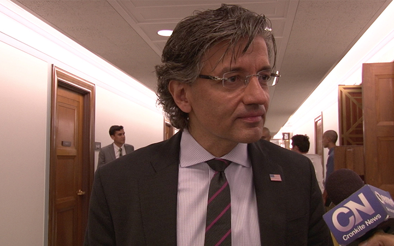 "M. Zuhdi Jasser, president of the American Islamic Forum for Democracy, argued that not using terms like ""radical Islam"" actually weakens the fight against terror. (Photo by Keshia Butts/Cronkite News)"