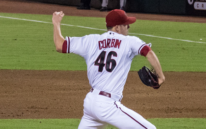 Baseball player Patrick Corbin pitching for the Arizona Diamondbacks. (Photo by Not That Bob James via Creative Commons)