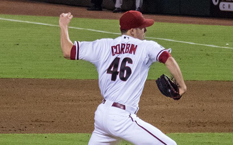 Baseball player Patrick Corbin pitching for the Arizona Diamondbacks. (Photo by Not That Bob James via Creative Commons)
