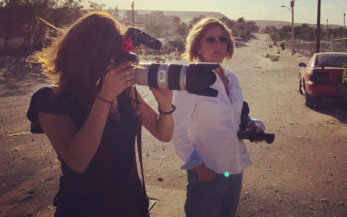 Courtney Pedroza and Angela Kocherga in Anapra, Chihuahua