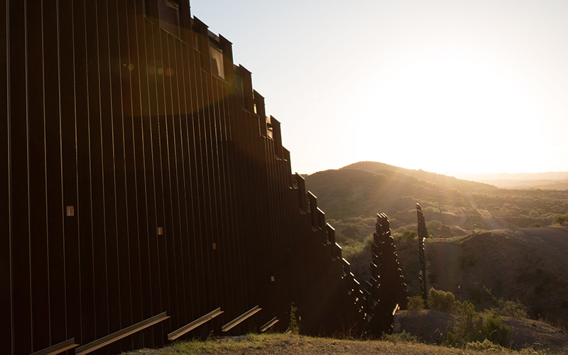 Most likely voters oppose a border wall such as the one between Nogales, Sonora (left) is separated from Nogales, Arizona (right) by the border fence, on Monday, March 28, 2016. (Photo by Cronkite News)