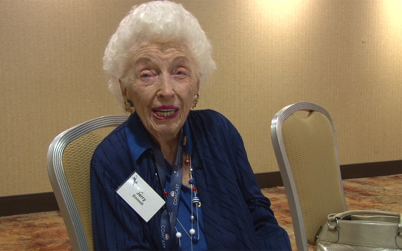 Jerry Emmett, 102, born before her mother had the vote lived to see Hillary Clinton become the first woman nominated by major party to be president. (Photo by Joey Carrera/Cronkite News)