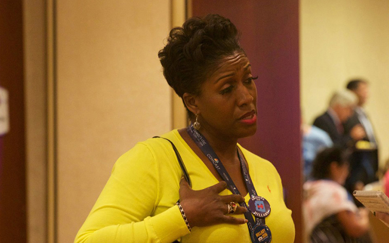 Charlene Tarver, a Democratic National Committee delegate from Arizona, said she believes that the Black Lives Matter movement and officer-involved shootings needs more attention. (Photho By Kelsey DeGideo/Cronkite News)