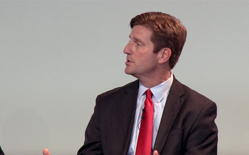 Phoenix Mayor Greg Stanton spoke about the need for comprehensive immigration reform within the first year of a Clinton Whit House on a mayor's panel in Philadelphia Monday. (Photo by Cooper Gardner/Cronkite News)