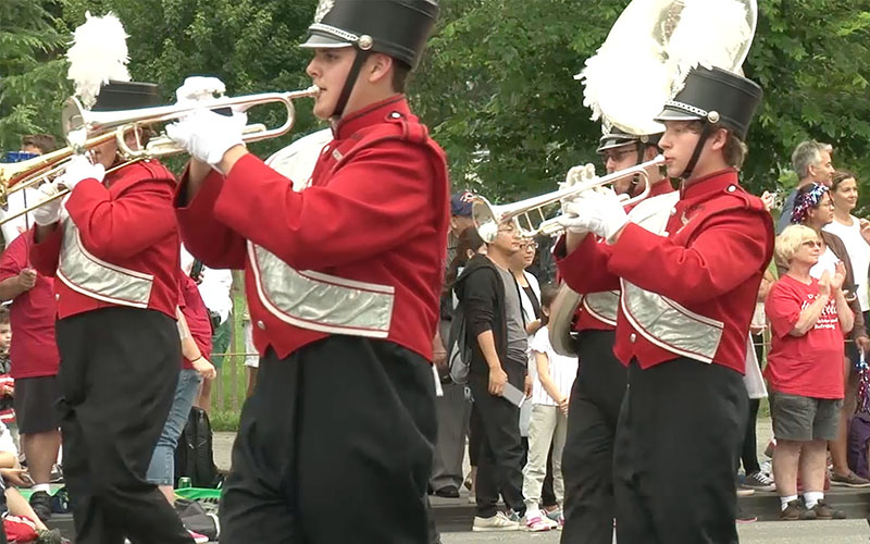 No Arizona groups played this year, but states around the country are invited to nominate a marching band every year to take part in the National Indendence Day Parade. (Photo by Keshia Butts/Cronkite News)