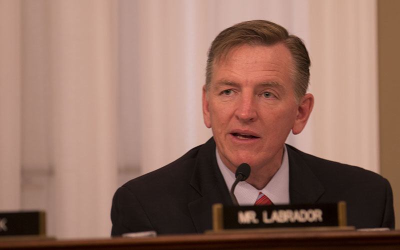"""Rep. Paul Gosar, R-Prescott, is hopeful his bill on renewable energy on public lands - with more than 60 co-sponsors - will pass because it """"transcends political divisions."""" (Photo by Emily Zentner/Cronkite News)"""