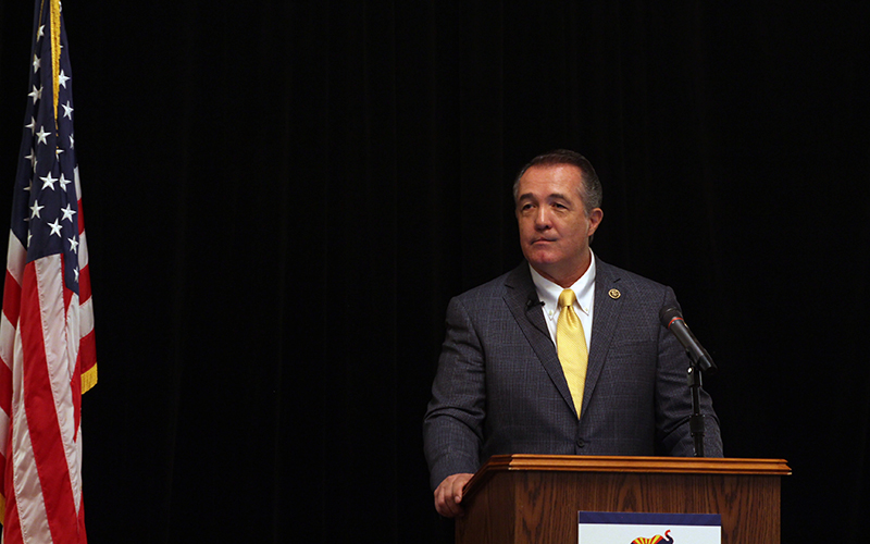 Rep. Trent Franks was the only Arizona congressman to attend the Republican National Convention in Cleveland.