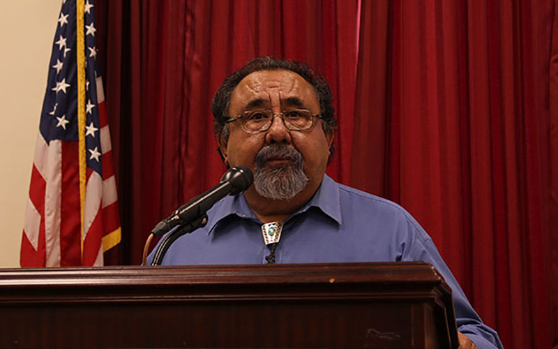 Rep. Raul Grijalva, D-Tucson, said his bill that would let eligible deported veterans return to the United States as legal residents is a matter of fairness. (Photo by Sophia Kunthara/Cronkite News)