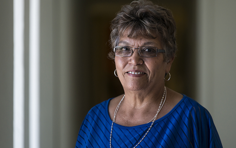 Gloria Torres serves as a city councilwoman and school board member in the border town of San Luis, Arizona. (Photo by Roman Knertser/News21)