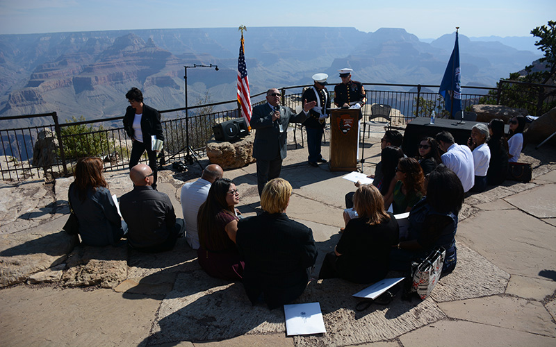 Arizona residents who are about to become new U.S. citizens are welcome to a naturalization ceremony at Grand Canyon National Park. (Photo by Bri Cossavella/Cronkite News)