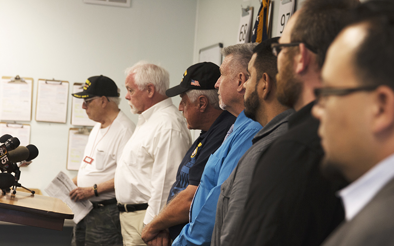 Veterans from around the valley gathered to discuss their opinions, and to represent the opinions of their fellow military members. (Photo by Christopher West/Cronkite News)