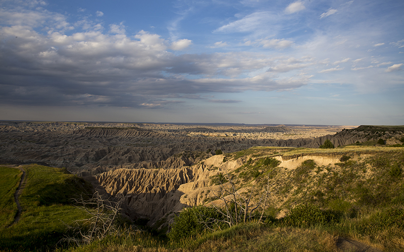 Part of the Badlands National Park crosses into the Pine Ridge Reservation within Oglala Lakota County in South Dakota. (Photo by Mike Lakusiak/News21)