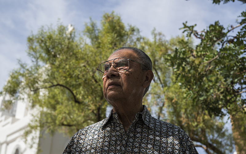 Tirso Montelongo, a native of Guadalupe, Arizona, does not plan on voting this presidential election. Montelongo has voted in previous years, but he's turned off by the two presidential candidates. (Photo by Roman Knertser/News21)