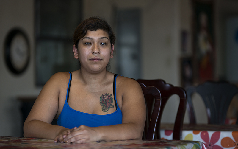 Alejandra Campos, 23, a native of Somerton, Arizona, has never registered to vote. Campos does not believe in the political system. She says politicians only make promises. (Photo by Roman Knertser/News21)