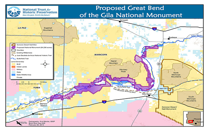 Proposed protected area shown in purple. (Courtesy of Archaeology Southwest)
