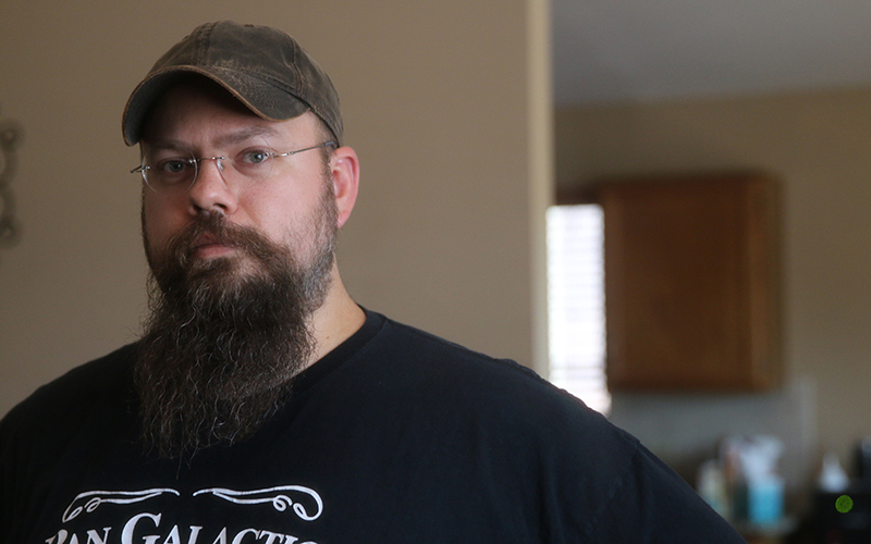 Justin Zimmer, a member of the Humanist Society of Greater Phoenix and a freethinker. (Photo by Anna Copper/Cronite News)