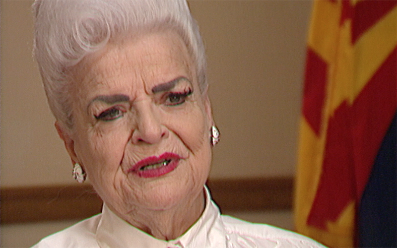 Rose Mofford during Arizona Horizon interview. (Photo by Cronkite News)