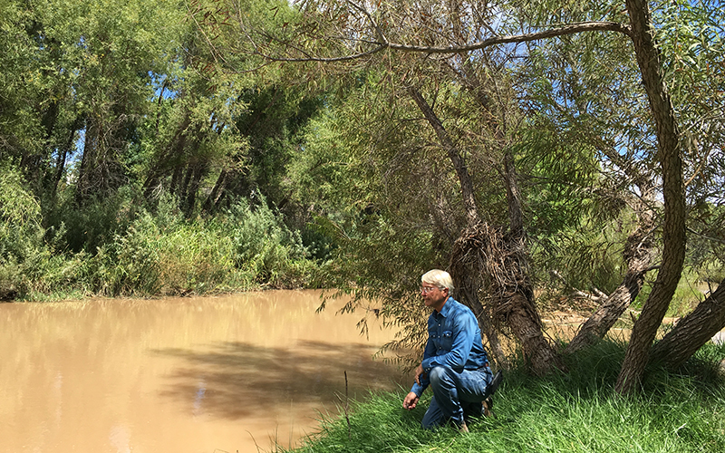 Chip Norton, a river conservationist with Friends of the Verde River Greenway, helped develop a pilot program  to offer credits in exchange for saving water. (Photo by Mindy Riesenberg/Cronkite News)