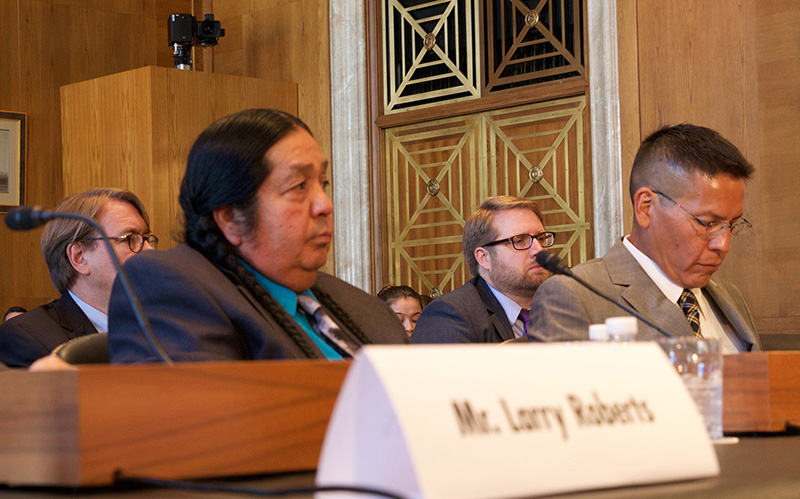 Hualapai Tribe Chairman Damon Clarke said a bill allocating water is necessary for his tribe's welfare - but can also benefit the state through greater tourism. (Photo by Jessica Suerth/Cronkite News)