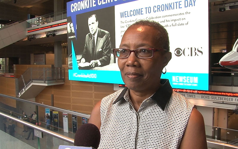 Sharon Shahid, the Newseum's director of editorial content for video and interactive, said the public had a great deal more trust in reporters in Walter Cronkite's day. (Photo by Claire Caulfield/Cronkite News)
