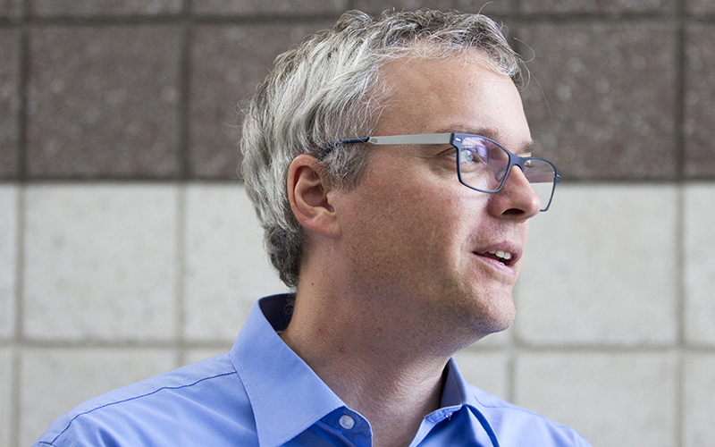 "Seth Beute, principal of Phoenix Coding Academy, said ""computer science is extremely important"" in today's job market. (Photo by Ally Carr/Cronkite News)"