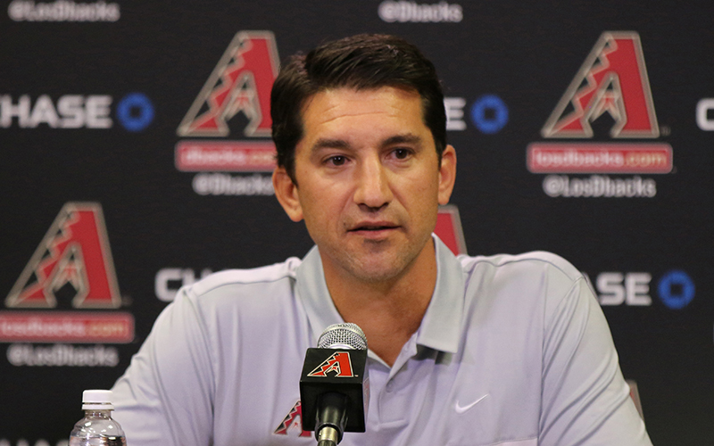 Mike Hazen was introduced Monday as the Arizona Diamondbacks new executive vice president and general manager. (Photo by Alexis Ramanjulu/Cronkite News)