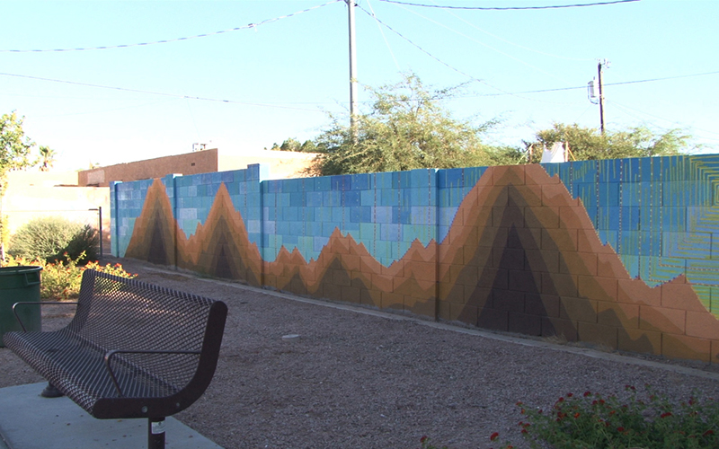 One Phoenix community near Grand and 15th avenues received a Love Your Block Phoenix mini-grant, which provides $1,000 to five communities a year to beautify the city – one block at a time. (Photo by Anthony Marroquin/Cronkite News)