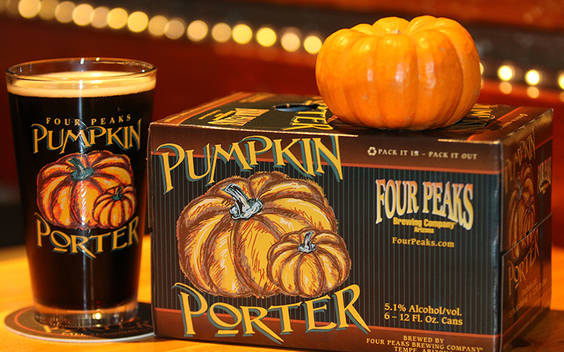 Four Peaks Brewery in Tempe becomes pumpkin savvy during the Fall. Their signature is Pumpkin Porter beer. (Photo by Kristiana Faddoul/Cronkite News)
