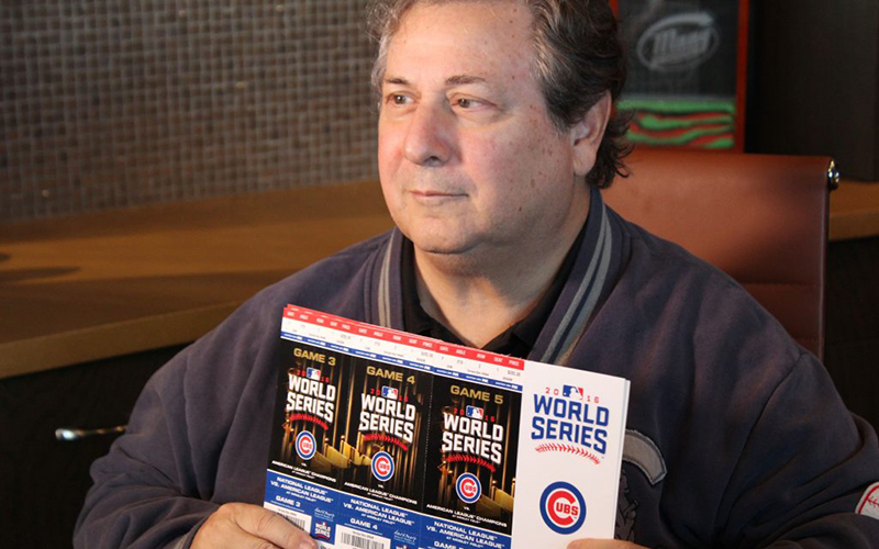 Al Maag, a Cubs season ticketholder, will be returning to Wrigley to catch some World Series action. (Photo by Trisha Garcia/Cronkite News)