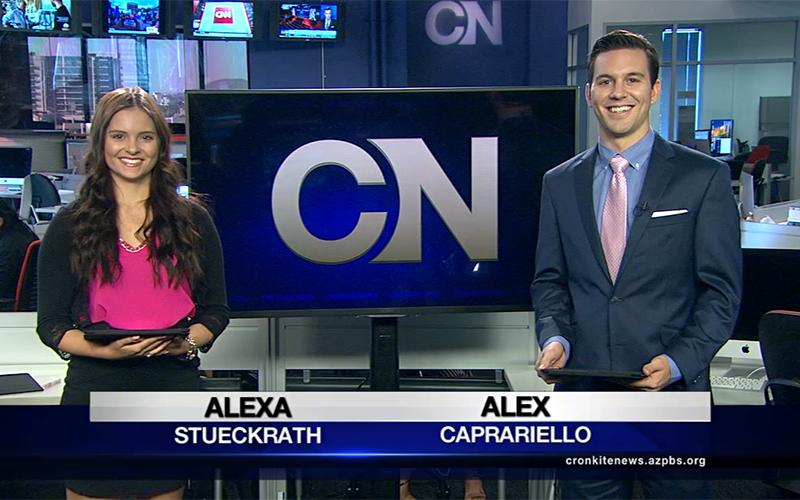 Alexa Stueckrath and Alex Caprariello (Photo by Cronkite News)