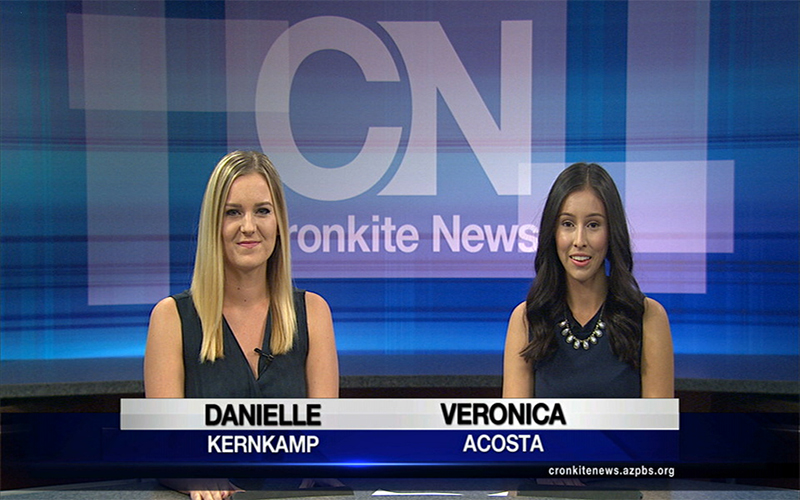 Danielle Kernkamp and Veronica Acosta. (Photo by Cronkite News)