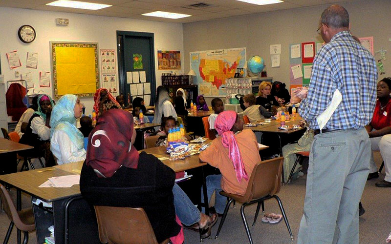 Refugee Parent Support Group Meeting at Washington Elementary School District. (Courtesty of Washington Elementary School District)