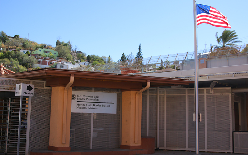 The Morley Gate Border Station, a Nogales port of entry for pedestrians crossing into the U.S. (Photo by Zach Quinn/Cronkite News)