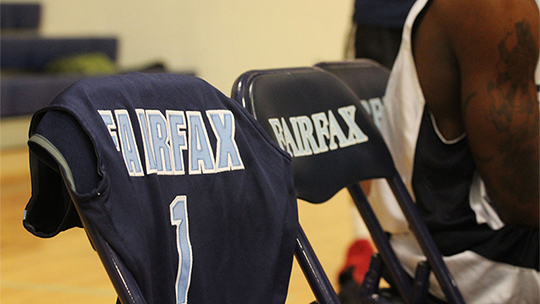 To honor Isia Slater, the Fairfax High School boys' basketball team will hang his away jersey over an empty chair on the bench at every game this season, Wednesday, November 16, 2016, in Laveen, Ariz.(Patricia Garcia/JMC Photo)