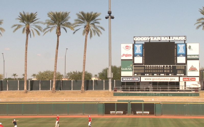 The Cleveland Indians call Goodyear Ballpark home during spring training. (Photo by Tamsyn Stonebarger/Cronkite News)