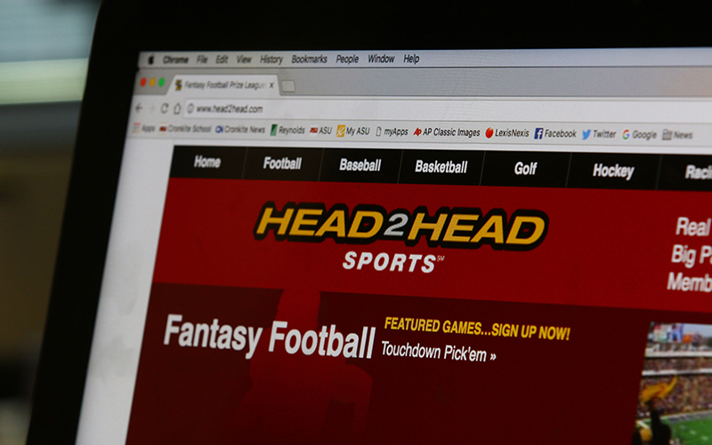 Head2Head Sports is a Scottsdale-based fantasy sports business. (Photo by Tyler Rubin/Cronkite News)