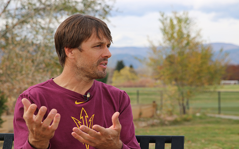 Former NFL player Jake Plummer says players should have the right to use marijuana if it helps them with pain management. (Photo by Giselle Cancio/Cronkite News)