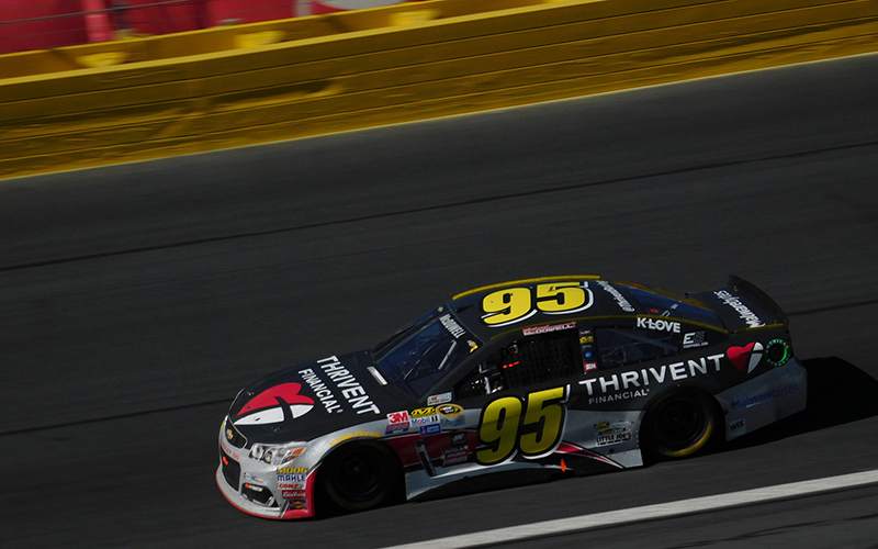 Michael McDowell drives the No. 95 Chevrolet for Circle Sport - Leavine Family Racing. (Photo by Zach Catanzareti via Creative Commons )