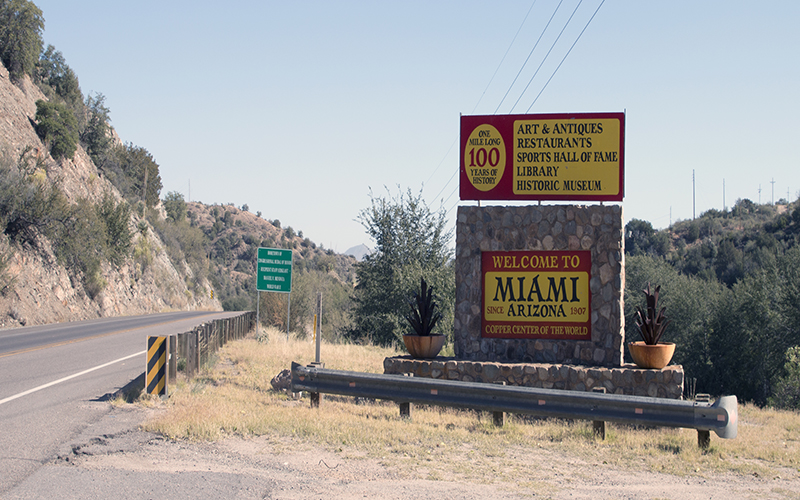Miami, Arizona, pictured on Thursday, Nov. 17, 2016, has traditionally boasted a strong mining industry. Some residents are hoping for a mining resurgence under a Donald Trump presidency. (Photo by Joshua Bowling/Cronkite News)
