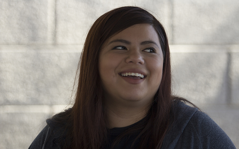 Cindy Bernal, 20, a Phoenix resident, said that people can't live on the minimum wage. She said she voted for Proposition 206. (Photo by Ally Carr/Cronkite News)