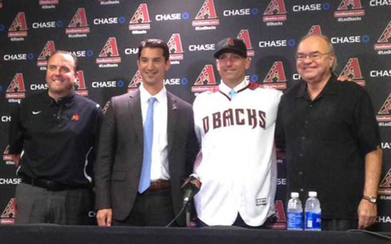 The Diamondbacks welcomed Torey Lovullo as the eighth manager in franchise history Monday. (Photo by Tamsyn Stonebarger/Cronkite News)