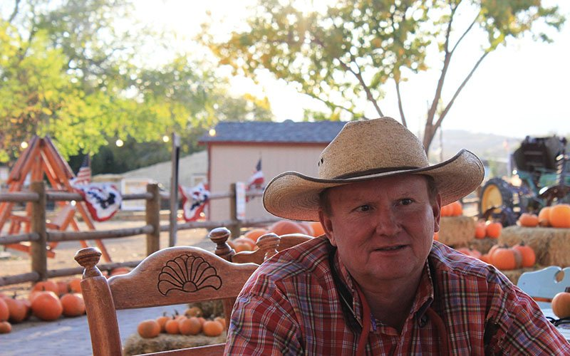 Gary Mortimer, owner of Mortimer Farms in Dewey, talks about why he identifies with the Republican Party. (Photo by Kia Murphy/Cronkite News)