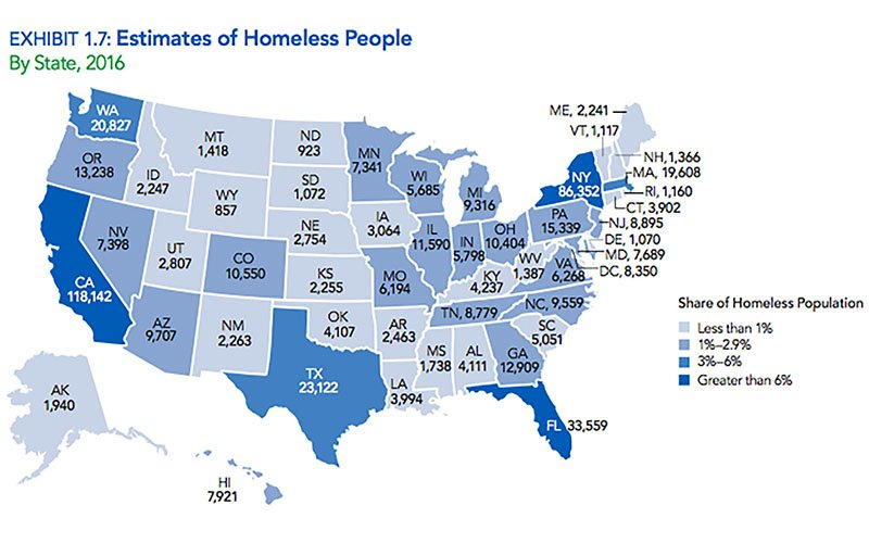 Arizona Homelessness Fell 30 Percent Since 2010 National Report - Arizona-in-us-map