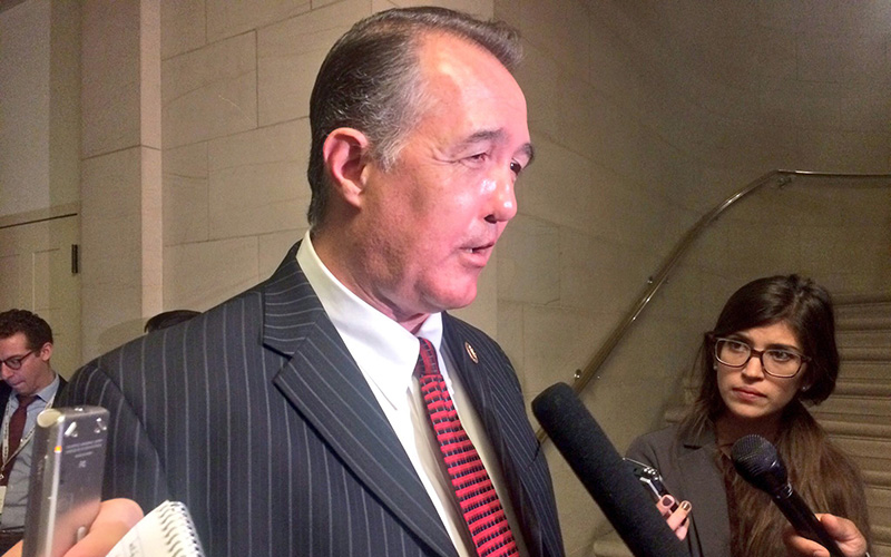 Rep. Trent Franks, R-Glendale, said the House Republican Caucus' unanimous re-election of its leadership team reflected the success of the 2016 campaign. (Photo by Jessica Suerth/Cronkite News)
